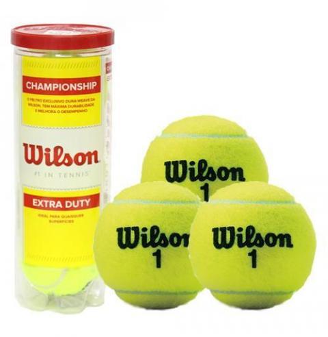 d6f33fc33 Bola de Tênis Wilson Champion ship Tubo com 3 Unidades ...