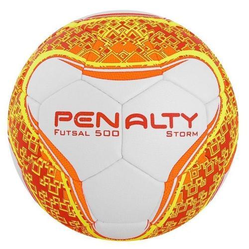 d582114940 Bola de Futsal Penalty Storm 500 Branca C C (Costurada a Mão)