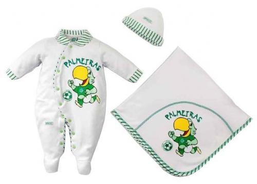 1eddc6cb44a2b5 Kit Bebê Palmeiras Rêve Dor Suedine Unissex de 0 a 3 meses