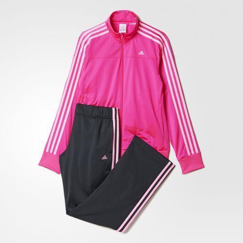 8edbf0ce7c6 Agasalho Adidas Feminino W KN 1 Rosa Cinza AO0414