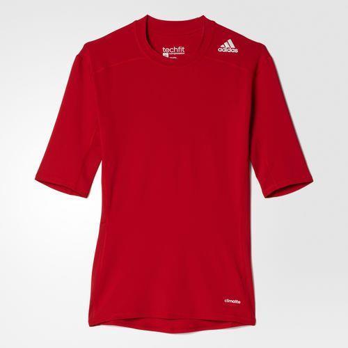 Camiseta Adidas Techfit Base Masculina Vermelha (AJ4968) 9f771f2e4f029