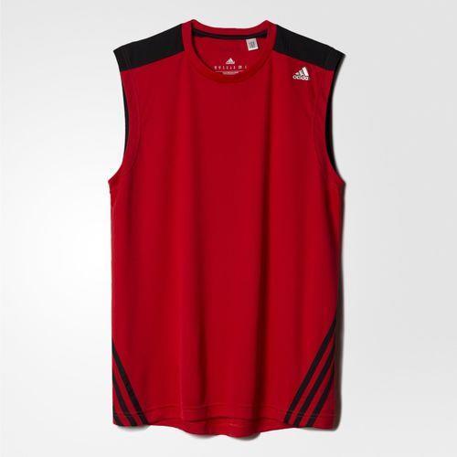 Camiseta Regata Adidas Base 3S Masculina Vermelha (Machão) AB6478 ... 3b2725b0fe527
