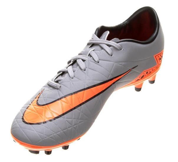 c44431dca0 Chuteira Campo Nike Hypervenom Phelon 2 FG Masculina - Cinza e Laranja