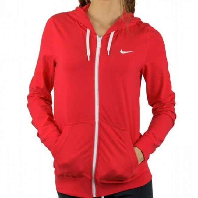 676295f8bb Jaqueta Nike Feminina com Capuz Vermelha 614829-647
