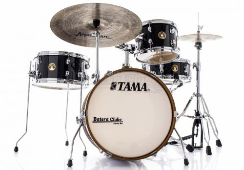 """Bateria Tama Club-JAM Charcoal Mist Sparkle Compacta com Bumbo 18"""", Tom, Surdo e Caixa (Shell Pack)"""