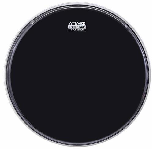 """Pele Attack Drumheads 1-Ply Medium Hazy Black 12"""" Filme Único Preto DHA12B"""