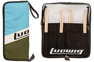 Bag de Baquetas Ludwig Atlas Classic LX31BO Retrô Pele Sintética e Diversos Compartimentos