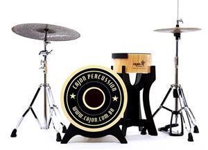 "Bateria Cajón Percussion Bateron BBCX500 Mini Bateria Cajón Kit Compacto com Bumbo 18"" e Caixa"