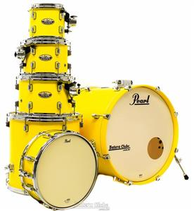 "Bateria Pearl Decade Maple High Gloss Solid Yellow 22"",10"",12"",14"",16"" com Caixa (Shell Pack)"