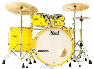 "Bateria Pearl Decade Maple High Gloss Solid Yellow 20"",10"",12"",14"" com Kit de Ferragens 830"