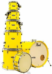 "Bateria Pearl Decade Maple High Gloss Solid Yellow 20"",8"",10"",12"",14"",16"" com Caixa (Shell Pack)"