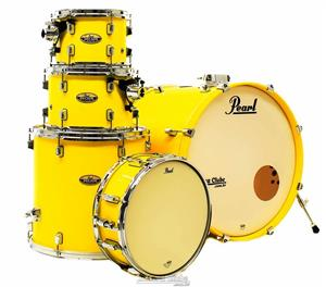 "Bateria Pearl Decade Maple High Gloss Solid Yellow 20"",10"",12"",14"" com Caixa (Shell Pack)"