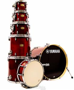 """Bateria Yamaha Stage Custom Birch Cranberry Red Lacquer 22"""",8"""",10"""",12"""",14"""",16"""" (Shell Pack)"""