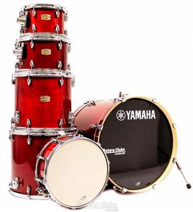 """Bateria Yamaha Stage Custom Birch Cranberry Red Lacquer 22"""",10"""",12"""",14"""",16"""" (Shell Pack)"""