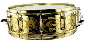 """Caixa DDrum Signature Carmine Appice Gold Brass Shell 14x5"""" (Seminovo)"""