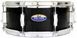 """Caixa Pearl Decade Maple Jet Black 14x5,5"""" com Casco Fino"""