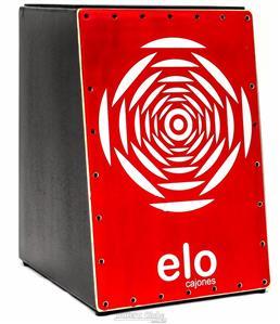 Cajón Elo Cajones Inclinado EL500C Red Eye com Assento Emborrachado Mais Largo e Tampo em Paricá