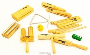 Kit de Percussão Infantil Liverpool INF03 Kit 10 Peças Instrumentos de Musicalização Infantil