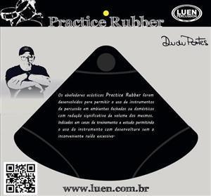 """Abafador de Pratos Luen Practice Rubber 13"""" a 15"""" Borracha Densa (17466)"""