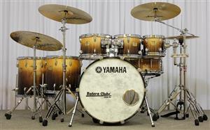 "Bateria Yamaha Maple Custom Absolute Abdul Lacewood 22"",8"",10"",12"",14"",16"" Made in Japan (Seminovo)"