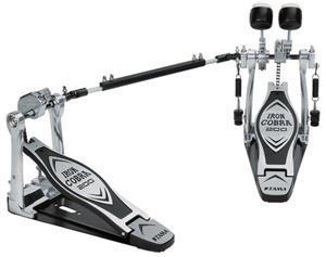 Pedal Duplo Tama Iron Cobra HP200PTW com Sistema de Polia Power Glide