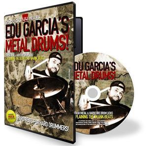 DVD Edu Garcia Thrash Metal & Hardcore Drum Licks Metal Drummer