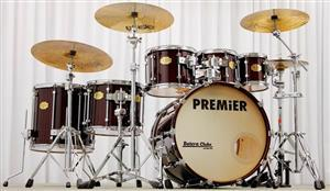 "Bateria Premier Signia Maple Cherry Wood 22"", 8"", 10"", 12"", 14"", 16"" (Seminovo) Década 90"