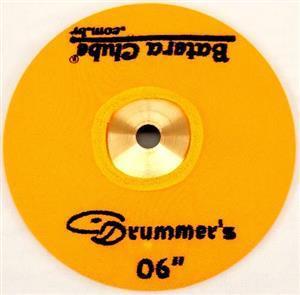 """Capa Protetora para Pratos Drummers Amarela 06"""" Signature em Algodão"""