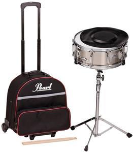 Kit de Estudo de Caixa Pearl SK-900C com Caixa Nickel Steel, Semi Case, Pad e Estante