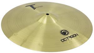 "Crash Octagon Tasmann Medium 16"" TM16CR em Brass Usinado e Martelamento Circular"