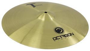 "Crash Octagon Tasmann Medium 18"" TM18CR Crash Ride em Brass Usinado e Martelamento Circular"