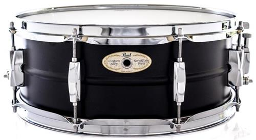 "Caixa Pearl Sensitone Limited Matte Black Steel 14x5,5"" SS1455SBE Edição Limitada"