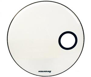 "Pele Aquarian Ported Bass White 22"" Resposta de Bumbo (Similar Ambassador e EQ1 Resonant) SMPTCC22W"