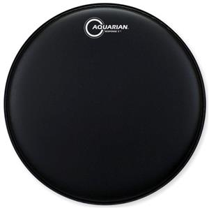 """Pele Aquarian Response 2 Texture Coated Black 18"""" Filme Duplo Porosa (Similar Onyx2) TCRSP2-18BK"""