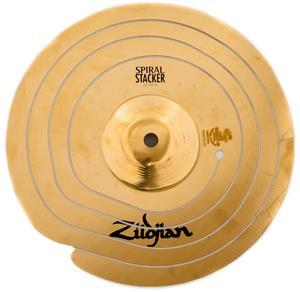 "Spiral Stacker Zildjian 10"" Prato de Efeito Cortado em Espiral"