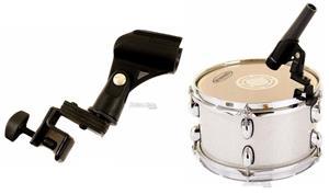 Clamp de Microfone On Stage DM01 para Fixar no Aro dos Tambores com Cachimbo Grátis (022696)