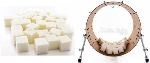 Abafador de Bumbo e Filtro DrumKubes White WKITWHT Bass Muffle Kit com 30 Cubos e Bag