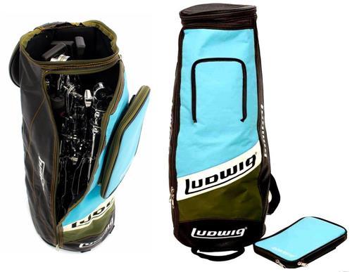 Bag de Ferragens Ludwig Atlas Classic LX25BO Drum Hardware Bag Super Luxo com Bag de Baquetas