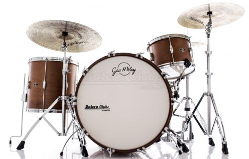 "Bateria George Way Tradition Mahogany Matte Natural 24x14"", 13x9"", 16x16"" (Shell Pack) Canadá"