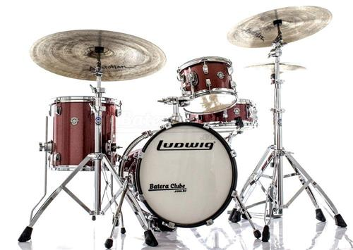 "Bateria Ludwig Breakbeats by Questlove Signature Red Sparkle com Bumbo 16"" Compacto (Shell Pack)"