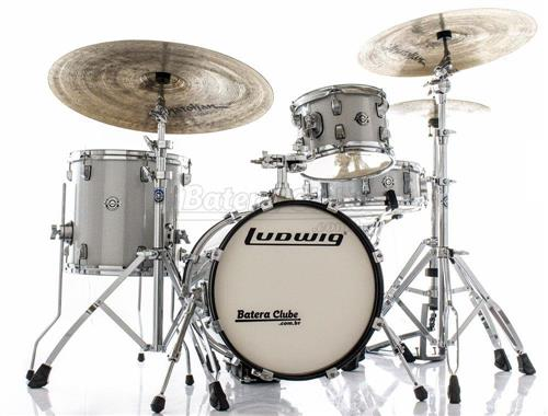 "Bateria Ludwig Breakbeats by Questlove Signature White Sparkle com Bumbo 16"" Compacto (Shell Pack)"