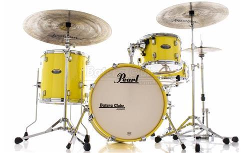 "Bateria Pearl Decade Maple Bop Jazz Solid Yellow Bumbo 18"", 12"", 14"" com Caixa (Shell Pack)"