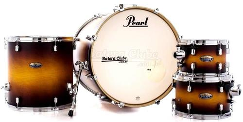"Bateria Pearl Decade Maple Classic Satin Amburst 22"",10"",12"",16"" com Caixa (Shell Pack)"