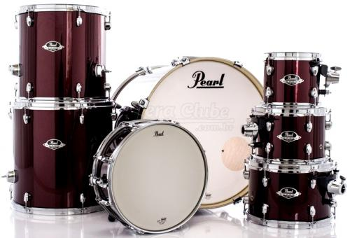 "Bateria Pearl Export EXX Series Mahogany Burgundy 20"",8"",10"",12"",14"",16"" (Shell Pack)"