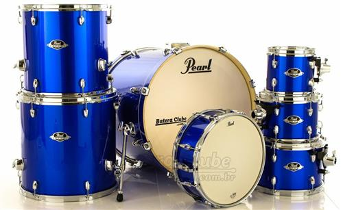 """Bateria Pearl Export EXX Series Mahogany High Voltage Blue 20"""",8"""",10"""",12"""",14"""",16"""" (Shell Pack)"""