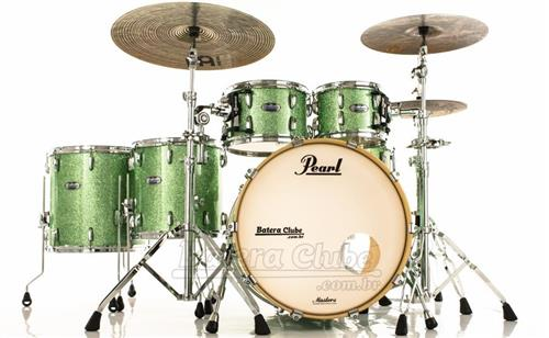 "Bateria Pearl Masters MCT Maple Complete Absinthe Sparkle 22"",10"",12"",14"",16"" Thin Shells"