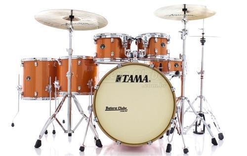 "Bateria Tama Silverstar Birch Bright Orange Sparkle 22"",10"",12"",14"",16"" com Caixa 14x5"" (Shell Pack)"