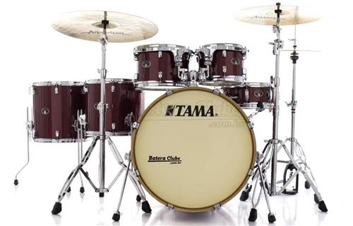 "Bateria Tama Silverstar Birch Dark Red Sparkle 22"",10"",12"",14"",16"" com Caixa 14x5"" (Shell Pack)"