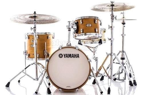 "Bateria Yamaha Absolute Hybrid Bop Vintage Natural com Bumbo 18"", tom 12"" e Surdo 14"" (Shell Pack)"