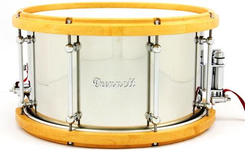 "Caixa Dunnett Stainless Steel Shell Hard Maple Wood Hoops 14x8"" Made in Canada US$ 699 (Acervo)"